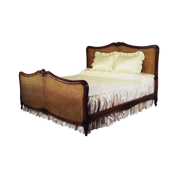 French Style Rattan Bed