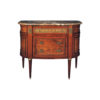 Natural Veneer Chest of Drawers with Marble Top 1
