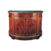 Natural Veneer Half Moon Chest with Marble Top 1