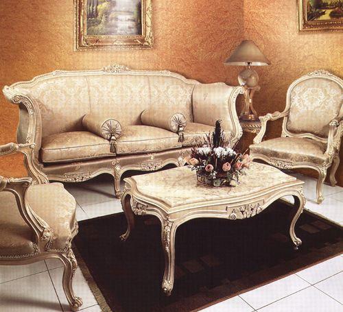 Audette Classical French Sofa Salon Set – Antique French Furniture 1