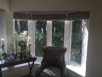 Custom Decorative Sitting Room Roman Blind