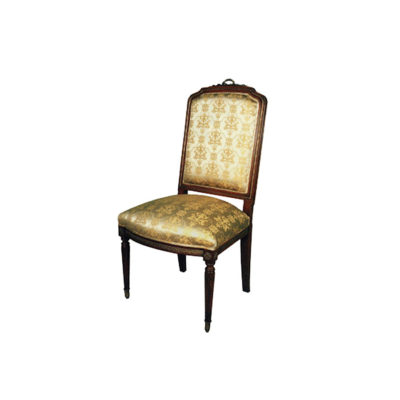 French Dining Chair with Hand Carved Detailed