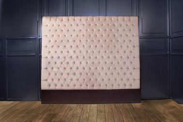 Diamond Tufted Headboard by Velvet Upholstery Luxury Fabric