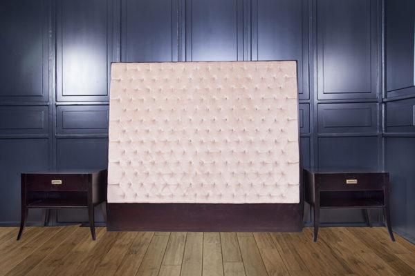 Artis Diamond Tufted Headboard with Luxury Upholstery Velvet Fabric 4