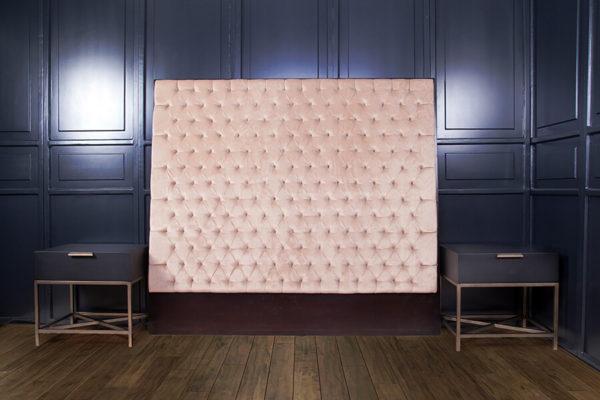 Artis Diamond Tufted Headboard with Luxury Upholstery Velvet Fabric 2