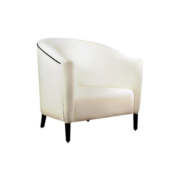 Addison Rolled Upholstered Tub Arm Chair Beside View