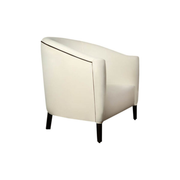 Addison Rolled Upholstered Tub Arm Chair Side View