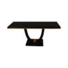 August Black Curved Leg Console Table 7