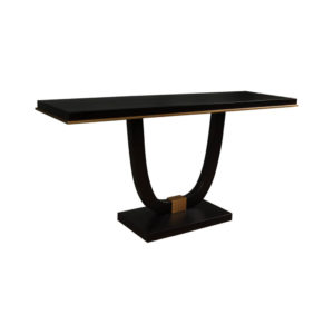 August Black Curved Leg Console Table Beside View