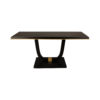August Black Curved Leg Console Table 1