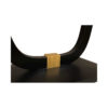 August Black Curved Leg Console Table 5