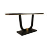 August Black Curved Leg Console Table 3