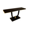 August Black Curved Leg Console Table 2