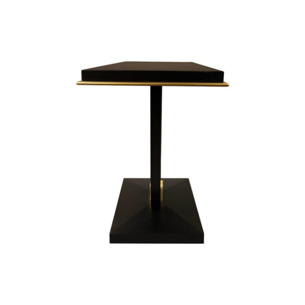 August Black Curved Leg Console Table Side