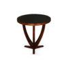 Austin Circular Cross Leg Wood Top Side Table 1