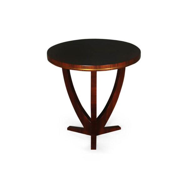 Austin Circular Cross Leg Wood Top Side Table