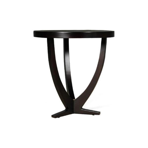 Austin Circular Cross Leg Wood Top Side Table Brown Beside