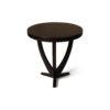Austin Circular Cross Leg Wood Top Side Table 8