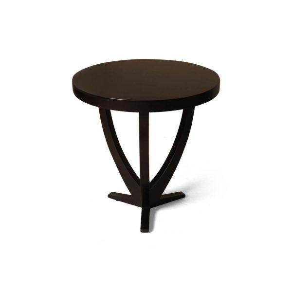 Austin Circular Cross Leg Wood Top Side Table Brown Front