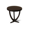 Austin Circular Cross Leg Wood Top Side Table 7