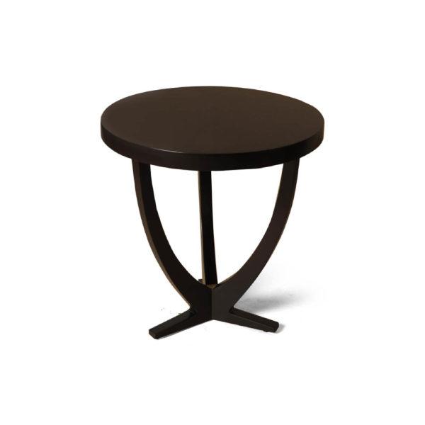 Austin Circular Cross Leg Wood Top Side Table Brown