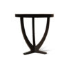 Austin Circular Cross Leg Wood Top Side Table 6