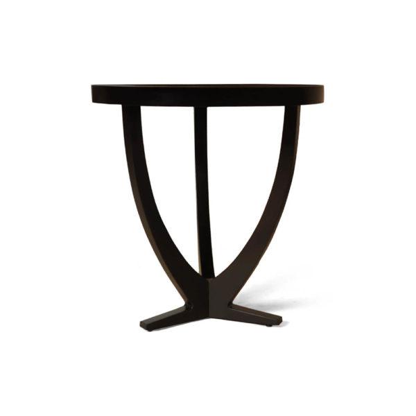 Austin Circular Cross Leg Wood Top Side Table Brown Side