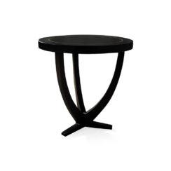 Austin Circular Cross Leg Wood Top Side Table Copper Top
