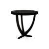 Austin Circular Cross Leg Wood Top Side Table 5