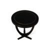 Austin Circular Cross Leg Wood Top Side Table 4