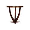 Austin Circular Cross Leg Wood Top Side Table 3