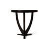 Austin Circular Cross Leg Wood Top Side Table 2