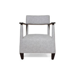 Bentley Upholstered Armchair with Black Wooden Arms