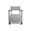Bentley Upholstered Armchair with Black Wooden Arms 2