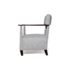 Bentley Upholstered Armchair with Black Wooden Arms 5