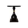 Cinnabar Round Black High Gloss Side Table 1