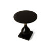 Cinnabar Round Black High Gloss Side Table 5