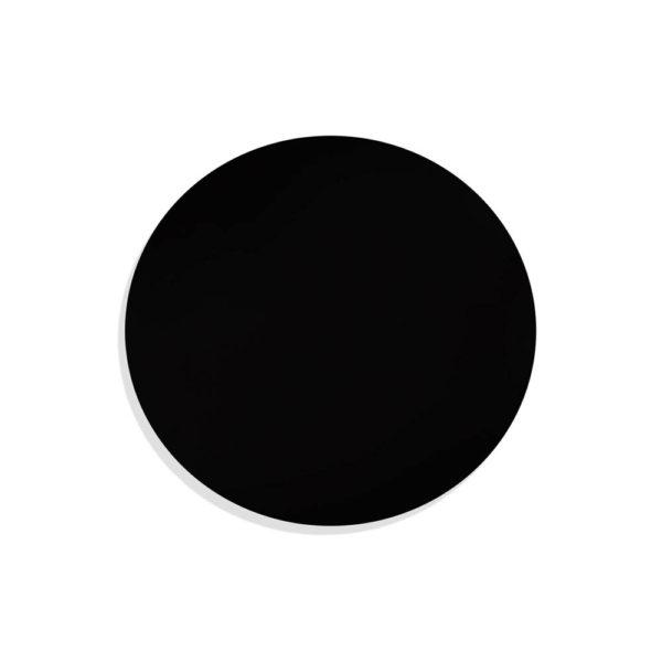 Cinnabar Round Black High Gloss Side Table Top Round