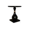 Cinnabar Round Black High Gloss Side Table 2