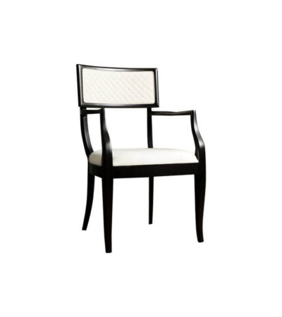 Colton Upholstered Dining Room Chair with Arms Beside