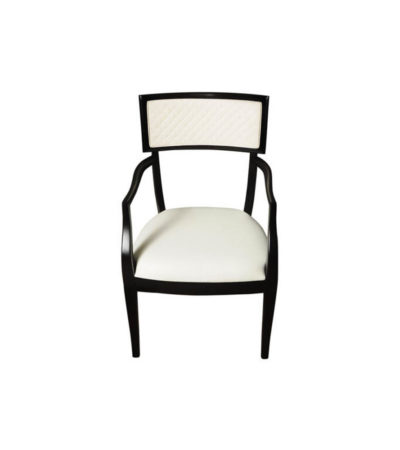Colton Upholstered Dining Room Chair with Arms Top
