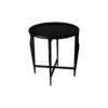Cruz Wooden Black Round Side Table 1