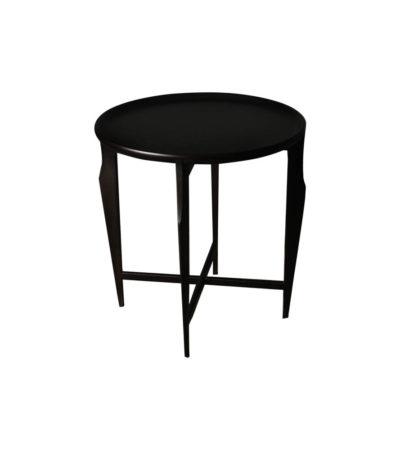 Cruz Wooden Black Round Side Table