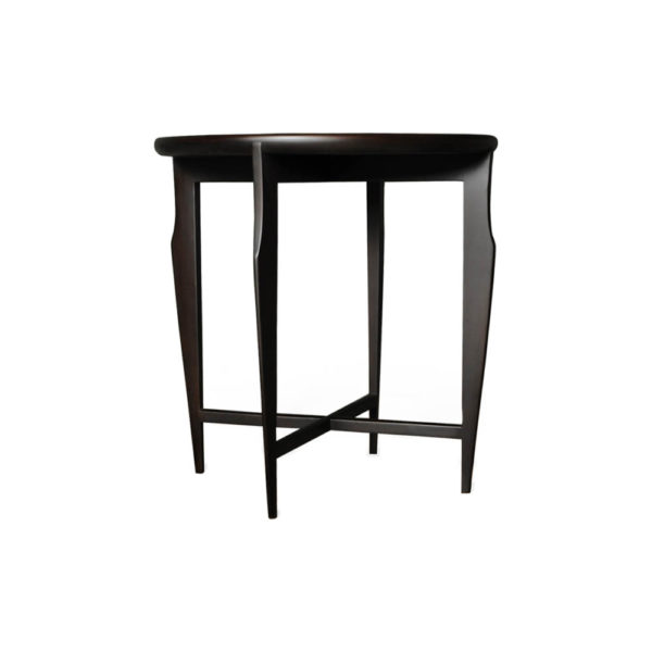 Cruz Wooden Black Round Side Table Front