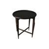 Cruz Wooden Black Round Side Table 2
