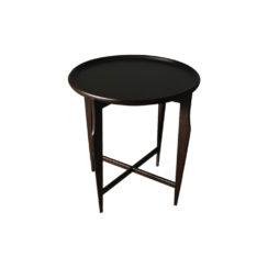 Cruz Wooden Black Round Side Table Top