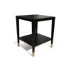 Damian Wood Square Side Table with Brass 1