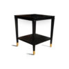 Damian Wood Square Side Table with Brass 6