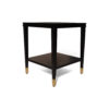 Damian Wood Square Side Table with Brass 5