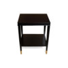 Damian Wood Square Side Table with Brass 3